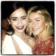 Lily Collins and Julianne Hough Go Glam