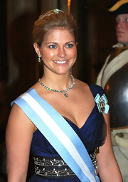 Princes Madeleine wore a diamond-encrusted choker that caused the audience to turn their heads at the Swedish Royal Gala.