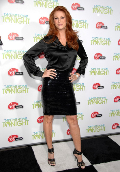 More Pics of Angie Everhart Knee Length Skirt (3 of 4) - Angie Everhart Lookbook - StyleBistro