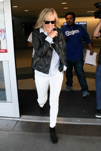 More Pics of Taylor Schilling Leather Jacket (1 of 9) - Taylor Schilling Lookbook - StyleBistro []