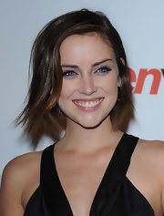 This is a fun and youthful hairstyle, with a loose sidepart.