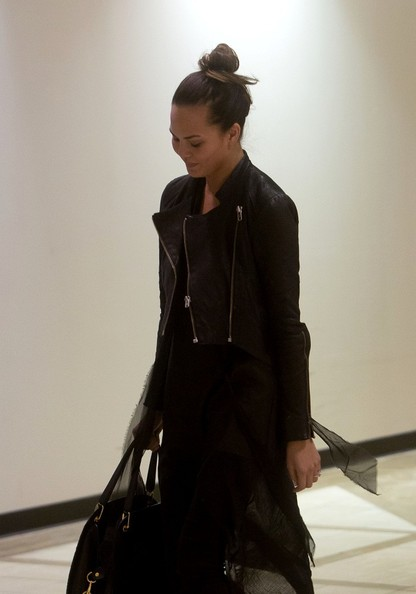 More Pics of Chrissy Teigen Leather Jacket (1 of 14) - Chrissy Teigen Lookbook - StyleBistro