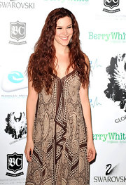 Joss Stone wore her signature long locks in fiery waves at the Global Angel Awards.