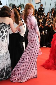 Florence Welch chose this pink and black polka dot dress for her look at 'The Great Gatsby' premiere at Cannes.