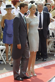 All eyes were on Beatrice Borromeo in her exquisite beaded dress whilst attending the Grimaldi royal wedding in Monaco.