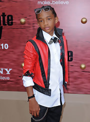 Jaden Smith channeled Michael Jackson in this red leather jacket at the premiere of 'Karate Kid.'