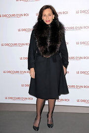 Kristin isn't afraid to show her love of fur in this decadent coat.