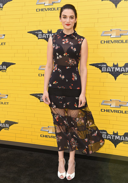 Jenny Slate's sheer RED Valentino floral dress at the 'Lego Batman Movie' premiere was a perfect blend of sweet and sexy!
