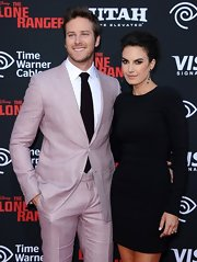Elizabeth Chambers went for subdued elegance with this long-sleeve LBD at the premiere of 'The Lone Ranger.'