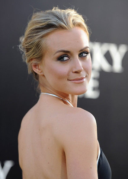 More Pics of Taylor Schilling Messy Updo (1 of 12) - Updos Lookbook - StyleBistro []