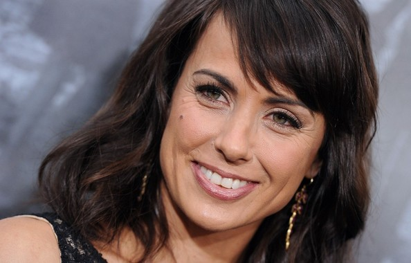 More Pics of Constance Zimmer Medium Wavy Cut with Bangs (5 of 10) - Constance Zimmer Lookbook - StyleBistro
