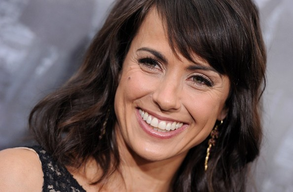 More Pics of Constance Zimmer Medium Wavy Cut with Bangs (4 of 10) - Constance Zimmer Lookbook - StyleBistro
