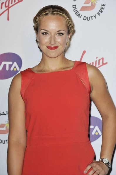 More Pics of Sabine Lisicki Braided Updo (1 of 3) - Sabine Lisicki Lookbook - StyleBistro
