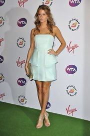Millie Mackintosh attended the Pre-Wimbledon Party wearing a mint green Tibi dress by Cocosa.