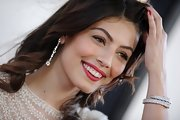 Alessandra Mastronardi glammed it up with a stunning diamond bracelet.