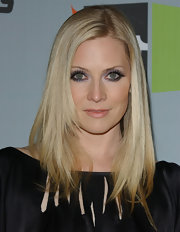 Smoky eye makeup gave Emily Procter an arresting look.
