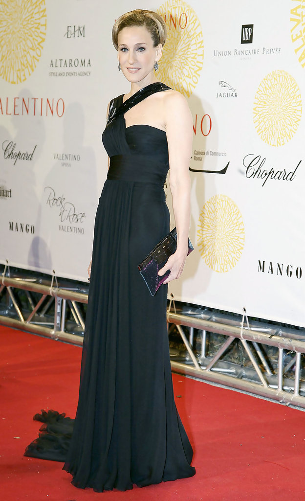 Celebritiess attend a gala evening in Rome to celebrate Valentino's 45th anniversary of Couture.