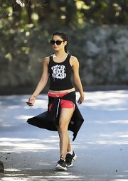 Vanessa Hudgens found her inner beast in this inspirational workout tank.
