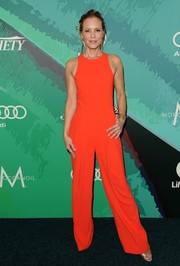 Maria Bello brought a bright pop to the Variety Power of Women event with this Trina Turk jumpsuit in an arresting red hue.