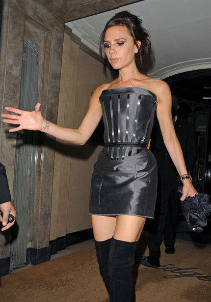 Victoria Beckham attends the Diane Von Furstenburg dinner at Claridges Hotel