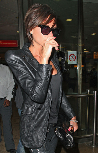 Home    Tribute Victoria Beckham Leather Jacket for Women