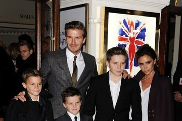 Victoria Beckham;Romeo Beckham Viva Forever! - Press Night