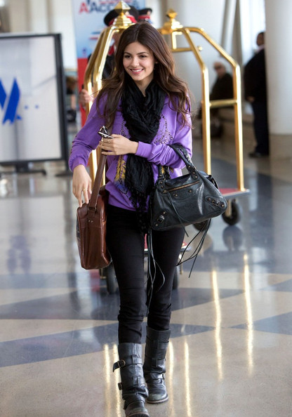 Victoria Justice Leather Tote