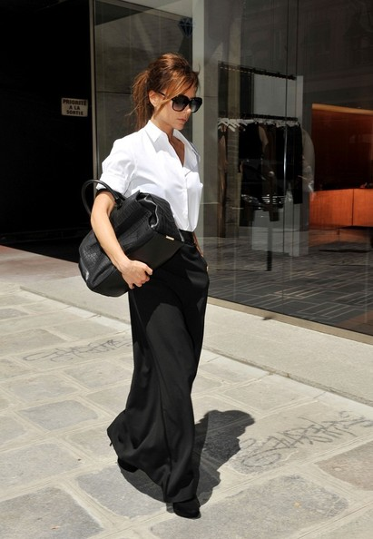 Victoria Beckham and Romeo Shop in Paris