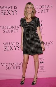 Angela Lindvall looked darling in polka-dots for the Victoria's Secret 'What Is Sexy?' party.