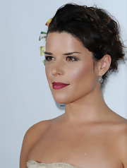 Neve Campbell's lips looked divine in a deep red during the 'Rock the Kasbah' event.