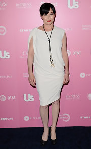 Shannen Doherty wasn't afraid to wear white with her porcelain complexion at the Hot Hollywood event.