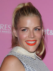 Busy Philipps added a punch of color to her look by wearing a juicy orange lipstick with lots of shine at the 'Us Weekly' Hot Hollywood Style event.