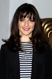 Rachel Weisz spiced up her normal waves with these thick, blunt bangs.