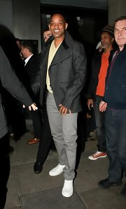 Will Smith showed his classic and sophisticated style while out in London in this gray wool coat.