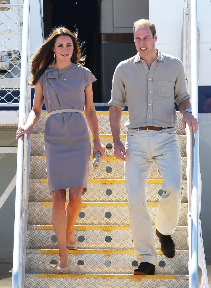 The Royal Couple Touches Down at Yulara