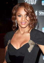 Ciara attened the World Music Awards sporing some face framing curls. The curls weren't a bad idea, but they covered up almost half her face.