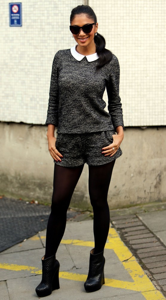 04th October 2012.  Nicole Scherzinger seen at the London studios today.