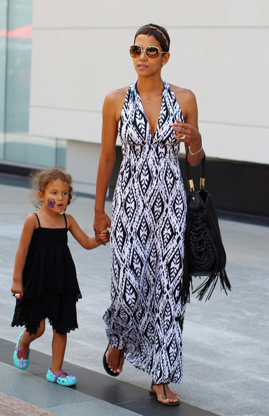Go Boho-Chic in Print Maxi-Dresses Like Halle Berry