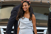 Zoe Saldana One-Shoulder Top