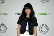 Zooey Deschanel's Retro Red Carpet Look