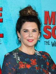 Lauren Graham pulled her tresses up into a messy knot for the premiere of 'Middle School: The Worst Years of My Life.'