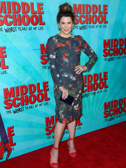 Lauren Graham looked vibrant in a multicolored floral sheath dress by Cédric Charlier at the premiere of 'Middle School: The Worst Years of My Life.'