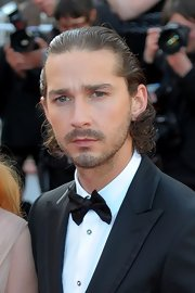 Shia LaBeouf slicked back his curly hair for the 'Lawless' premiere in Cannes.