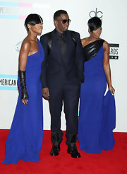 Sean Combs paired black lace-up boots with his dapper suit for an edgy touch at the 2010 American Music Awards.