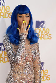 Katy Perry finished off her bedazzled dress with  silver cocktail ring.