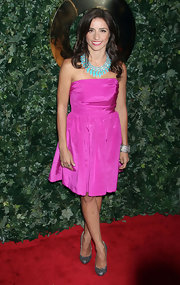 Shoshanna Lonstein looked  pretty in pink at the 2011 QVC Red Carpet Style Party.