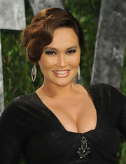 Tia Carrere exuded vintage glamour with this fingerwave updo at the 2012 Vanity Fair Oscar party.