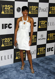 Regina King looked foxy all the way down to her silver strappy sandals.