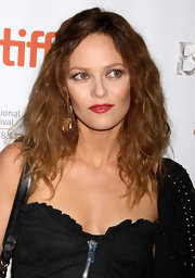 Vanessa Paradis' was rocker chick chic at the 'Cafe de Flor' premiere. She added one pop of color by choosing a shiny red lipstick.