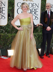 Missi Pyle wore this chartreuse organza dress for the Golden Globes.